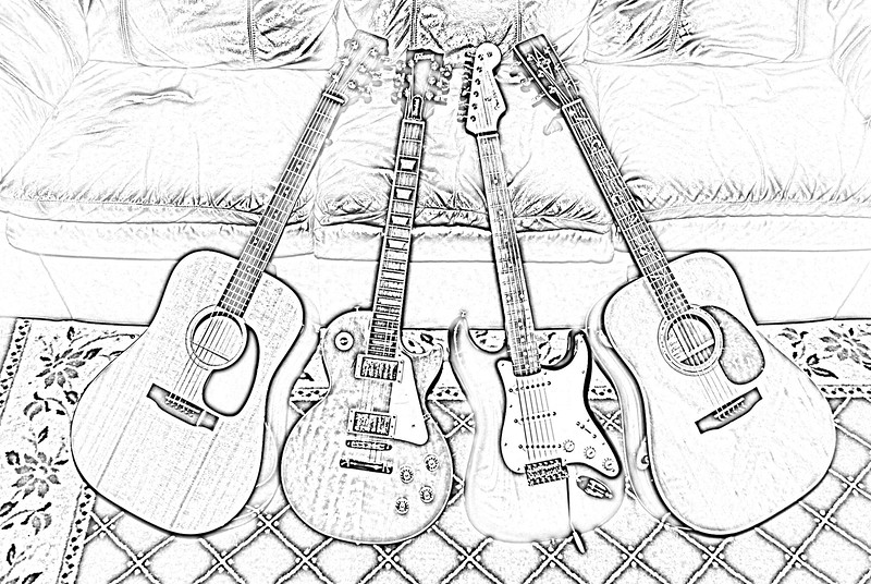 Still life with my guitars