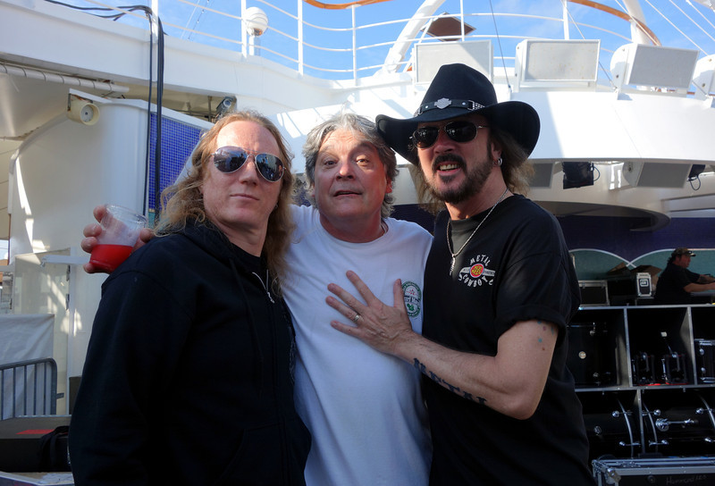 Jason McMaster, Tim Heyne, and Ron Keel.