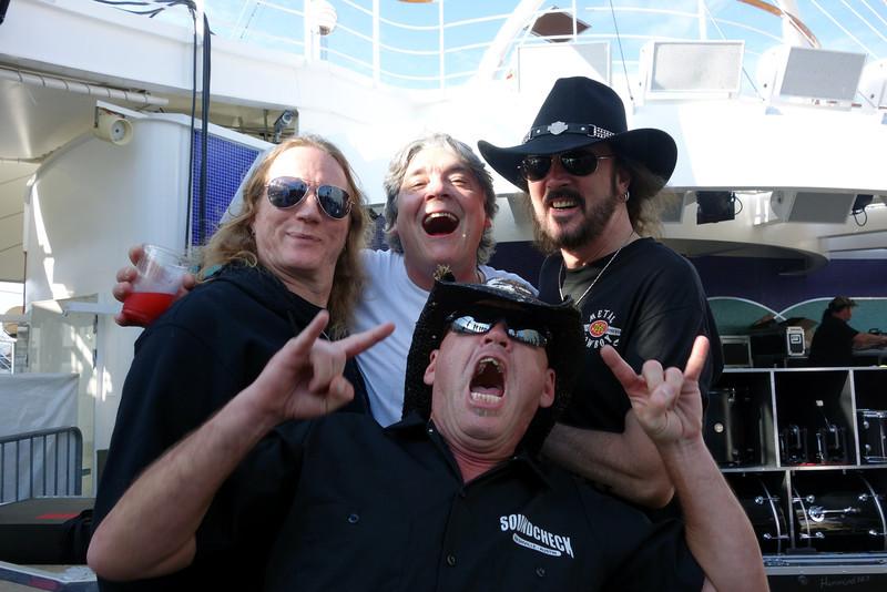 Scott Dalhouver photo bomb! With Jason McMaster, Tim Heyne, and Ron Keel.