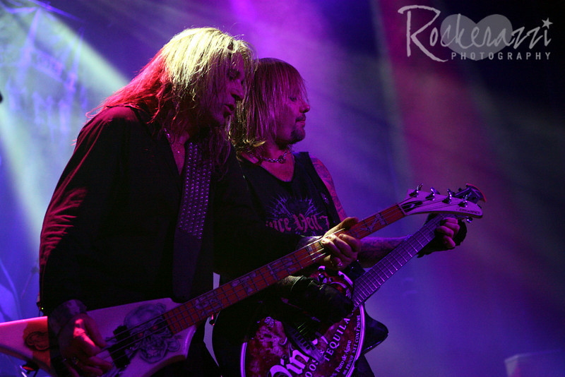 Dana Strum and  Vince Neil.