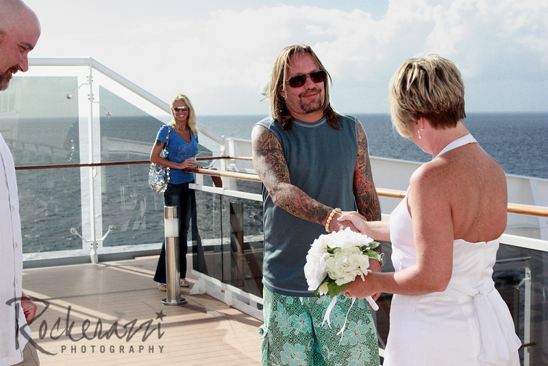 Vince Neil crashes the wedding.
