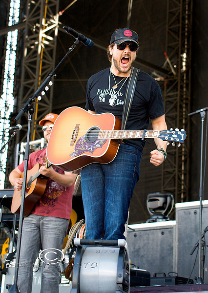 Amped Up And Excited - Eric Church at WeFest 2010 - Photo by Pat Bonish