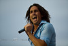 Getting Into the Music - Jake Owen rockin' out in Cheyenne - Photo by Pat Bonish