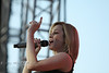 Kellie Pickler Showing the Crowd who's Number One - Cheyenne Wyoming, Photo by Cindy Bonish
