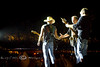 Trio of Instruments on stage with Kenny Chesney in Cheyenne Wyoming - Photo by Pat Bonish