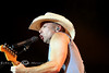 Kenny Chesney on the Microphone at Cheyenne Frontier Days - Photo by Cindy Bonish