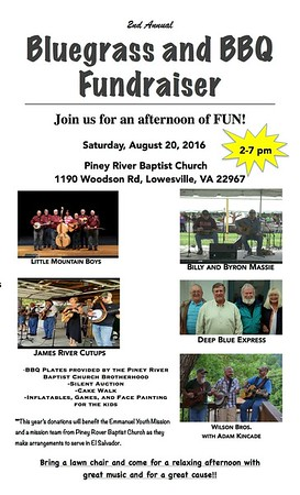 2016 08-20 Bluegrass music & BBQ Fundraiser