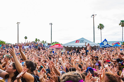 Crowd shot from Warped Tour at Tinker Field in Orlando, FL. 2016