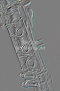 Music Clarinet Embossed Art 9001.402