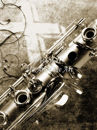 Canvas Print Clarinet and Cross 3520.01