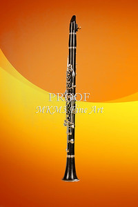 Wall Art Clarinet Music Instrument Yellow 3257.02