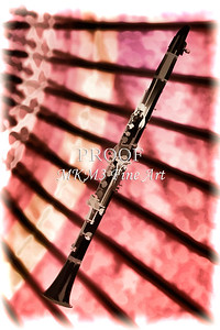 Canvas Wall Art Clarinet Painting 3256.02