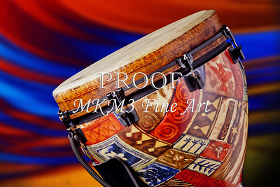 Metal Wall Art Djembe Drum Music Art 3336.02