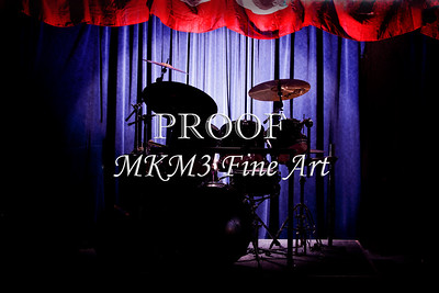 Drum Set On Stage Metal Wall Art 3234.02
