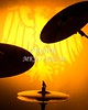 A set of drum cymbals in silhouette against a yellow gold background in the vertical format.<br /> <br /> Keywords associated with these photographs are: Drum, drums, snare, sticks, drum set, trap drum set, music, jazz, band, orchestra, marching, percussion, cymbal, drummer, drumming, drum art, drum art prints, drum prints, drum pictures, drum photographs, drumset, rock and roll, country music, antique, vintage, trumpet print, trumpet canvas, Wall art, decorative wall art, fine art photography, art photography, photo art, fine arts, art photo, fine art prints, art prints, fine art, fine art canvas, canvas print, photography, photographic, photo, picture, Mac K Miller III, Mac Miller, M K Miller III, art, modern wall art, wall art ideas, wall art décor, abstract wall art, bathroom wall art, wall art décor, decorative wall art, contemporary wall art, collectable art, cheap art, kitchen wall art, wall art for kitchen,