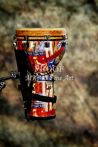 Djembe Drum on Stand Wall Art 3242.02