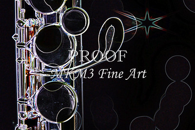 Flute and Star Dark Drawing 8001.520