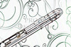 Bass Flute Wall Art Drawing 8001.608