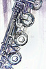 Flute Keys Art Print Drawing 8001.613