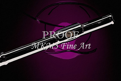 Wall Art Flute on Purple Painting 8001.339
