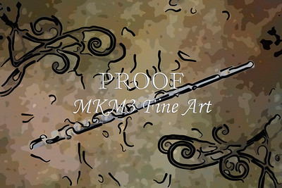 Flute Painting Wall Art 8001.317
