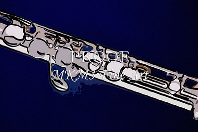 Flute Painting Metal Wall Art 8001.328