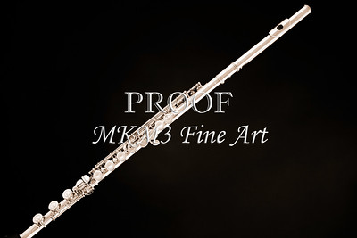 Simple Silver Flute Wall Art 128.00bw