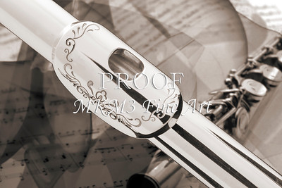 Engraved Flute Lip Plate Wall Art 3442.01