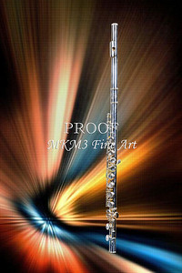 Colored Lights and FLute Art Print 3301.02