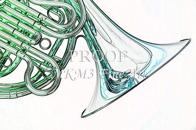 French Horn Watercolor Fine Art Print 2084.37