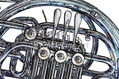 Rotors on French Horn Watercolor Print 2084.44