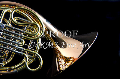 French Horn on Black 2079. 11