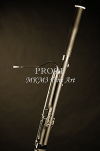Photograph of a Bassoon Music Instrument on Black 3408.01