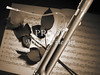 Bassoon Music Instrument Photograph in Sepia 3406.01