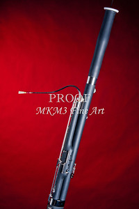 Photograph Bassoon Music Instrument in Color Red 3408.02
