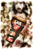 Africa Culture Drum Djembe Painting in Color 3237.02
