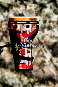 Djembe or Djambe Africa Culture Drum Painting 3243.02