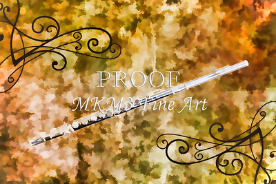Classic Flute music instrument painting photograph 3307.02