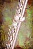 Alto Flute Music Instrument Painting in Color  3403.02