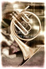 French Horn Antique Classic Painting in Color 3428.02