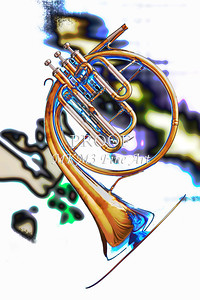 French Horn Paintings and Photographic Prints