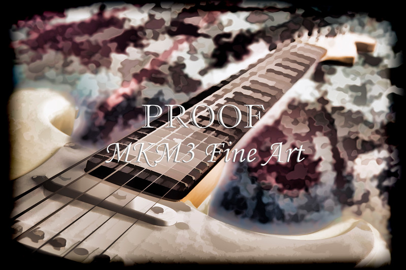 Electric Guitar Painting Photograph in Color 3318.02