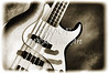 Electric Guitar Painting in Black and white Sepia 3320.01