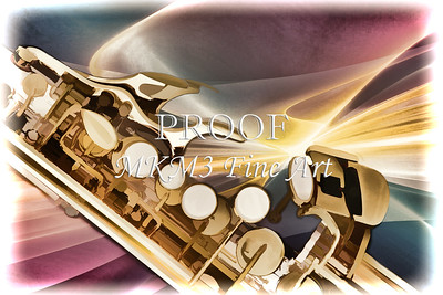 Modern Soprano Saxophone Painting in Color 3345.02