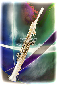 Painting of Music Soprano Saxophone in Color 3340.02