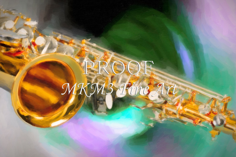 Saxophone Swirl Music Painting in Color 3249.02