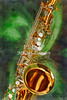 Saxophone Instrument Painting Music  in Color 3253.02