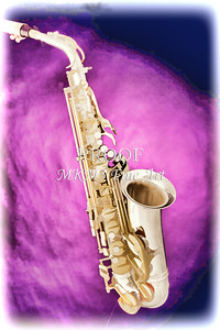 Saxophone Jazz Instrument Bell Painting in Color 3272.02