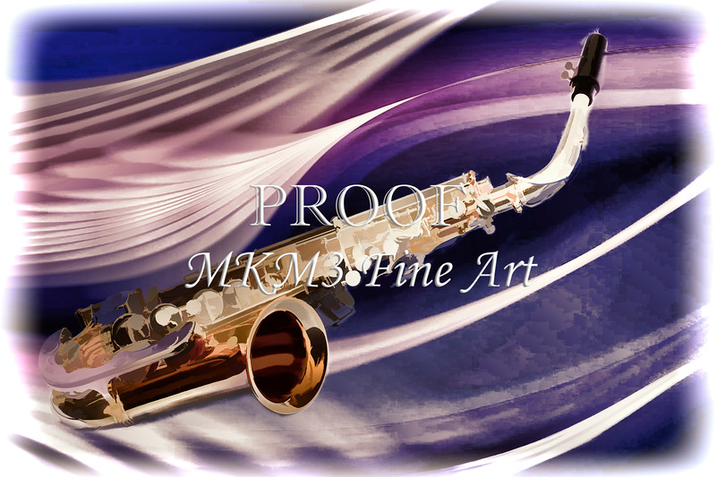 Saxophone Music in Space Painting in Color 3250.02