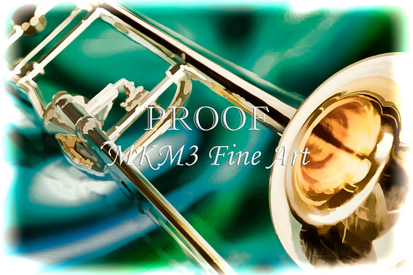 Trombone Painting in Color 3205.02